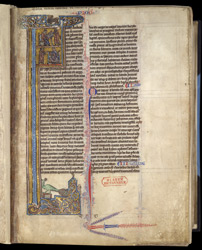 Historiated Initial With St. Jerome And St. Ambrose, In 'The Bible Of Robert De Bello'